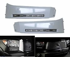 2x white LED Daytime Day Fog Lights DRL Run lamp For 2010-2013 Toyota Tundra