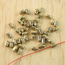 220pcs dark gold-tone crafted tube spacer beads h1314