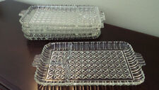 Vintage 1950s 1960s Glass Serving Tray Platter Dishes