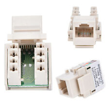 Cat6 RJ45 Punch Down Keystone Jack CAT6 Network Ethernet RJ45 White Lot LWY