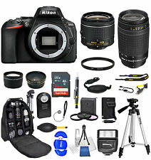 Nikon D5600 Digital SLR Camera + 18-55mm + 70-300mG 24 piece Ultimat Bundle