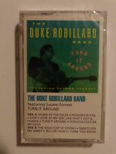 DUKE ROBILLARD BAND Turn It Around 1991 Blues; Sealed CASSETTE w/ Susann Forrest