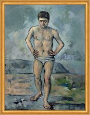 The Bather paul cezanne hombres bañador Baden rocas pradera playa B a2 02973