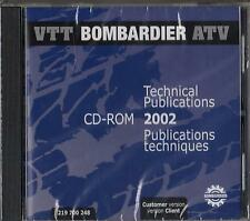 2002 BOMBARDIER ATV SERVICE,PARTS,OWNERS MANUAL on CD ROM 219 700 248 (951)