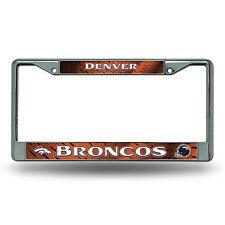 Denver Broncos Metal Chrome License Plate Frame Auto Truck Car NFL