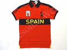 New Ralph Lauren Polo Custom Fit Big Pony Red 100% Cotton Spain Shirt sz XS
