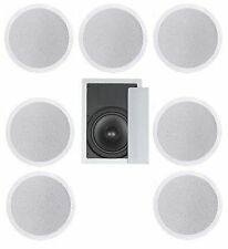 "8 FLUSH MOUNT IN-CEILING SPEAKERS 7.1 HOME THEATER 10"" SUBWOOFER SURROUND SOUND"