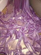 "5 MTR QUALITY PINKY LILAC/GOLD SHIMMER CHIFFON FABRIC...58"" WIDE £12.49"