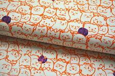 COTTON & STEEL USA KATZEN KATZE KITTY CAT KITTEN GRAFIK BAUMWOLLE 0,5m R