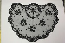 Black Princess heart Spanish veils and mantilla Catholic chapel lace Latin