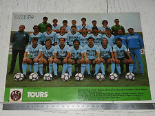 CLIPPING POSTER FOOTBALL 1981-1982 FC TOURS STADE-DE-LA-VALLEE-DU-CHER