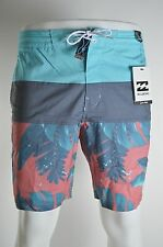 2015 NWT MENS BILLABONG TRIBONG BROTANICAL BOARDSHORT $60 32 cranberry patch