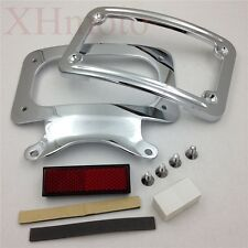Chrome Laydown Curved License Plate Bracket For Harley Street Glide/Road Glide