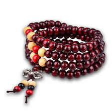 Red Sandalwood Buddhist Tibetan Wood Prayer Beads Bracelet Necklace Accessory
