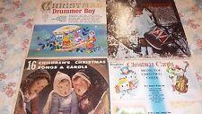 Christmas Music Vinyl LP LOT # 1 Carols Jack Halloran Drummer Boy