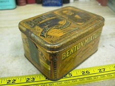 TOBACCO TIN BENSON MIXTURE SMOKING WEISERT BROS TOB CO CAN ST LOUIS ORIGINAL