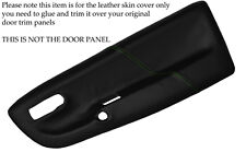 GREEN STITCH FITS  VW LUPO 1998-2005 2X FRONT DOOR CARD LEATHER SKIN COVERS ONLY