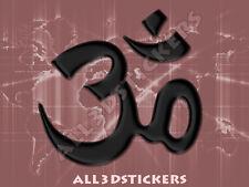 Pegatina Simbolo OM 3D Relieve - Color Negro