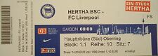 TICKET Friendly 2008/09 Hertha BSC Berlin - FC Liverpool