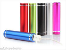Silver 2600mAh Portable USB Power Bank Battery Charger For Phone flashlight