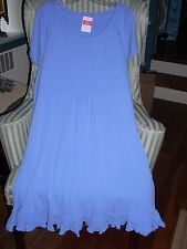 "NWT FRESH PRODUCE COTTON  S/S  ""SUNSHINE""  STYLE  DRESS IN PERIWINKLE ...(3X)"