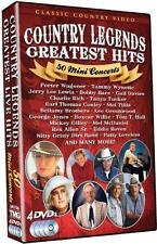 Country Legends Greatest Hits: 50 Mini Concerts (DVD, 2012, 4-Disc Set)