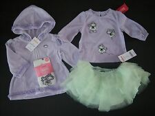 NWT Gymboree Dance Team 3-6 Months Monkey Ballerina Tee Tights Hoodie Tutu Skirt