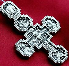 Large Authentic Russian Orthodox Silver 925 Crucifix Mother of God Sign Pokrov