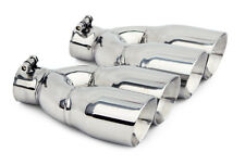 "NEW UNIVERSAL STAINLESS STEEL DUAL EXHAUST TIPS GRAND PRIX GM PONTIAC 3.5"" OUT"