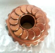 """Large Antique Copper Jelly / Cake Mold 4"""" tall x 6 1/2"""" Diameter, marked """"6 514"""""""