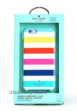 Kate Spade Hard Case Snap Cover for iPhone 6 iPhone 6s Multi Color Candy Stripes