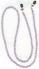 Lilac~Lavender~Purple CRYSTAL Eyeglass~Glasses Holder Necklace Leash Chain