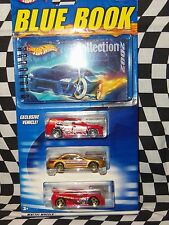 Hot Wheels:(2)Collector Blue books 2002 & 2003 w/3 1:64 Cars