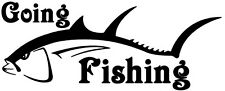 GOING FISHING ,CARP,SEA, FLY FISHING, CAR,VAN, BOATS,  DECAL, STICKER