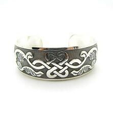 Ancient Silver Spiritual Celtic Knot Bracelet/Bangle/Cuff/Viking/Norse/Rune/thor
