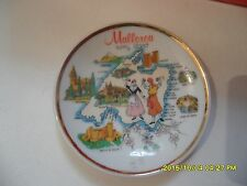 ANCIENNE ASSIETTE MINIATURE DE COLLECTION + SUPPORT - MALLORCA