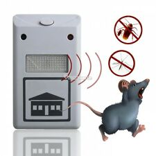 New Hot Sale White Ultrasonic Riddex Plus Electronic Pest Rodent  Repeller 220V