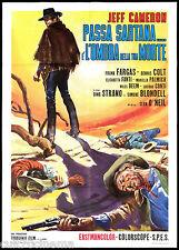 PASSA SARTANA E' L'OMBRA DELLA TUA MORTE MANIFESTO CINEMA WESTERN 1969 POSTER 2F