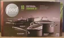Food Network 10-Piece Dishwasher-Safe Hard Anodized Nonstick Cookware Set