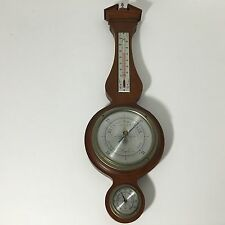 Vintage Airguide Banjo Barometer Thermometer Hygrometer Weather Station 26""