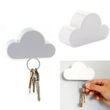 Holder Creative Magnetic Keychain White Cloud Cloud-Shaped Key Holder