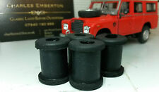 Land Rover Series 1 2 2a 3 Rear Rubber Grommet Brake Pipe Support Set 6860L x4