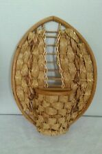 Wall Pocket Hanger Basket Planter 13 Tall10 Wide Natural Wicker