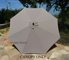 9ft Patio Garden Market  Umbrella Replacement Canopy  Cover Top  8 ribs Taupe