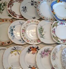 Job lot of 100 Vintage Mismatched Side Plates-Ideal for a Vintage Style Wedding