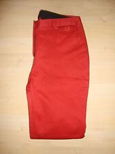 Fred Perry Womens Twill Chino Rich Rust (Orange) UK 8 (36) BNWT RRP £85