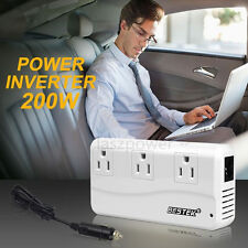 BESTEK 200/500 Watts Car DC to AC Power Inverter Charger 3 Outlets & 4 USB Ports