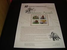 Prehistoric Animals #3077-3080 USPS Commemorative Stamp Panel #489 32 Cents