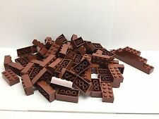 LEGO 3001 - 50 tout neuf 2x4 Marron foncé Briques Par Commande