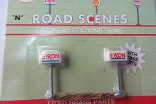 2 enseignes éclairées statique EXXON station service 4cm MP-8579 N 1/160